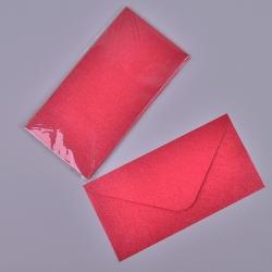 Конверт большой алый с узорами (набор 10шт)