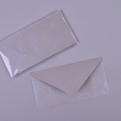 Конверт большой серый с узорами (набор 10шт)