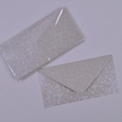 Конверт большой серебро (набор 10шт)