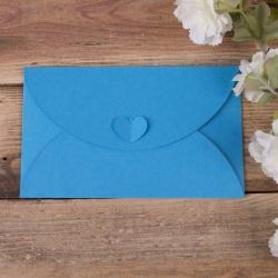 """конверт из картона """"бабочка"""" голубой"""