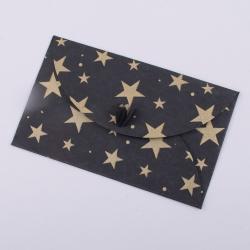 конверт из крафта черный со звездами
