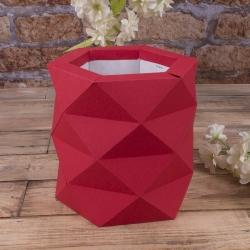 """Коробка """"многогранная размер """"S"""""""" красная"""