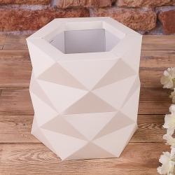 "Коробка ""многогранная размер ""S"""" айвори"