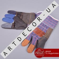 Защитные перчатки RLK из кожы