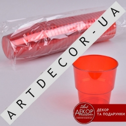 Стакан из пластика красный 0,2 (25шт)