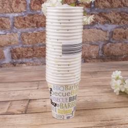 """стакан бумажный 250млл (акция) """"барбекю"""" (набор 25шт)"""