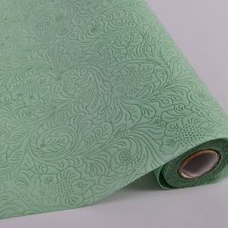 Материал для флористов с тиснением 50 см (темно-зеленый -08)