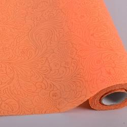 Материал для флористов с тиснением (оранжевый -09)