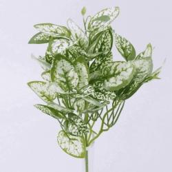букет листья латексные белые