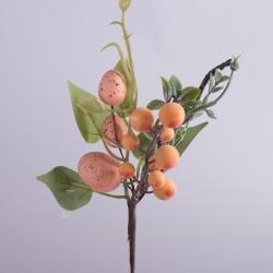 композиция с 3-я яйцами и шариками на палочке (оранжевая)