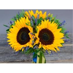 Букеты из полевых и украинских цветов<br>