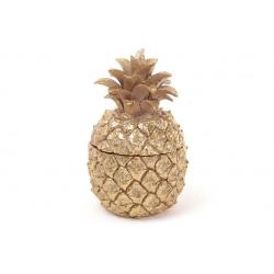 Шкатулка для украшений Яблоко, 14см, цвет - золото
