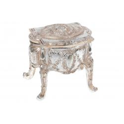 Шкатулка Антикварный столик, 10.5см, цвет - шампань