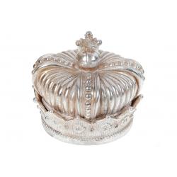 Шкатулка Корона, 11.5см, цвет - шампань