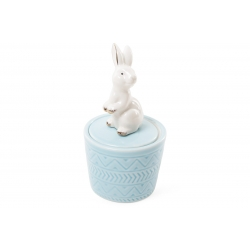 Шкатулочка фарфоровая Кролик 13.5см, цвет - голубой