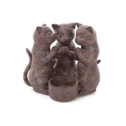 Декоративный подсвечник Три котёнка 14см