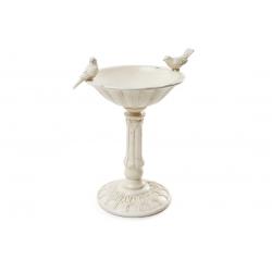 Декоративная подставка-конфетница с птичками, 32см, цвет - слоновая кость