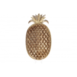 Блюдо декоративное Ананас 38.5см, цвет - золото антик