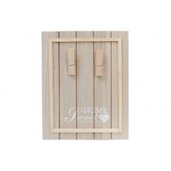 Доска деревянная Sweet Home с прищепками для записок