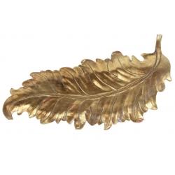 Декоративное блюдо Перо, 46см, цвет - состаренное золото
