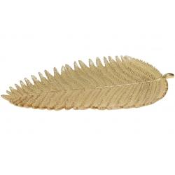 Декоративное блюдо в виде листа папоротника, 41см, цвет - золотой