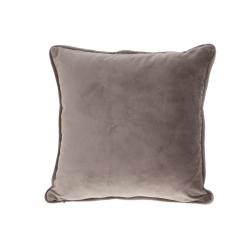 Подушка с декоративным бархатным наперником, цвет - теплый серый