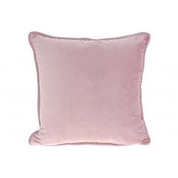 Подушка с декоративным бархатным наперником, цвет -розовый