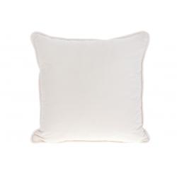Подушка с декоративным бархатным наперником, цвет - кремовый