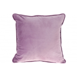 Подушка с декоративным бархатным наперником, цвет - сиреневый