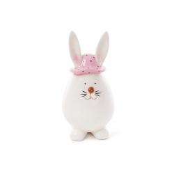 Декоративная керамическая фигурка Зайчик в шляпе, 16см