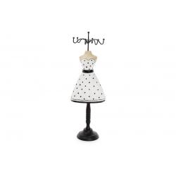 Подставка для украшений Платье 32.5см, цвет - черный с белым