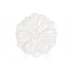 Декоративная тарелка Цветок, 24см, цвет - белый