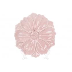 Декоративная тарелка Цветок, 24см, цвет - розовый