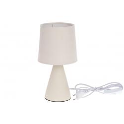 Лампа настольная 25см с фарфоровым основанием и тканевым абажуром, цвет - белый