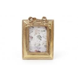 Рамка для фото 9*12см Бант, цвет - состаренное золото
