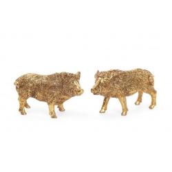 Декоративная статуэтка Wild boar 11см, цвет - золото