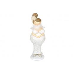 Декоративная статуэтка Ангел, 25см, цвет - бежевый