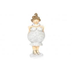 Декоративная статуэтка Ангел, 24см, цвет - светло-серый