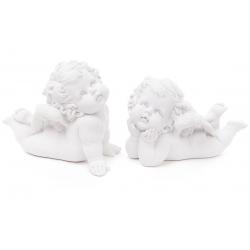Декоративная статуэтка Ангел 18см, 2 вида, цвет - матовый белый