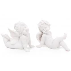 Декоративная статуэтка Ангел, 8см, 2 вида, цвет - матовый белый