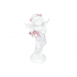 Декоративная статуэтка Ангелочек с розами, 26см