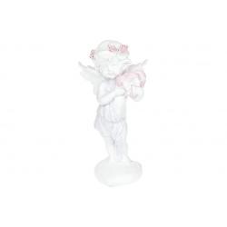 Декоративная статуэтка Ангелочек с сердечками, 25см