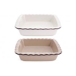 Квадратная форма для выпечки, 2 дизайна - молочный и бежевый