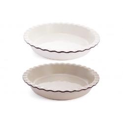 Круглая форма для выпечки, 2 дизайна - молочный и бежевый