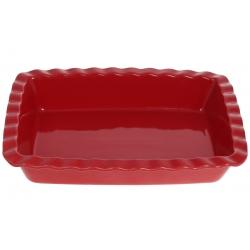 Прямоугольная форма для выпечки 30см , цвет - красный