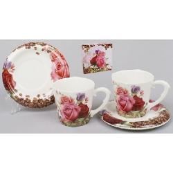 Кофейный сервиз 4пр.: 2 чашки + 2 блюдца