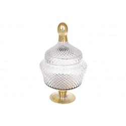 Конфетница Шевалье, 31см, цвет - прозрачный с золотом