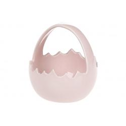 Декоративная конфетница-корзинка, 11.5см, цвет - розовый