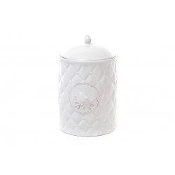 Банка для печенья керамическая Птица 1.2мл, цвет белый
