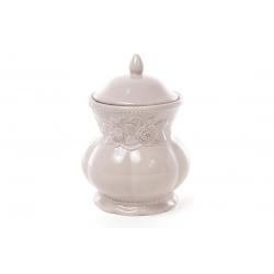 Банка для печенья керамическая Розы 850мл, цвет бежевый